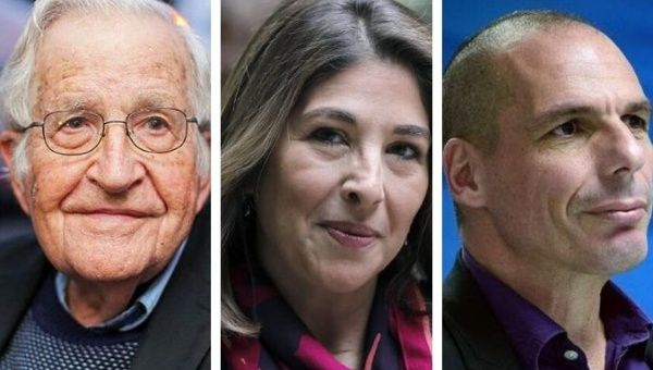 Noam Chomsky, Naomi Klein, and Yanis Varoufakis are among the interim Council of over 40 advisors.