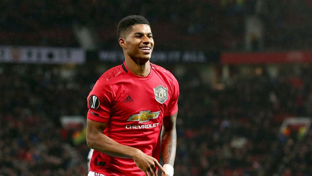 Footballer Marcus Rashford receives Manchester award for campaign on free school meals